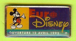 Pin's EuroDisney Ouverture 12 Avril 1992 Mickey - 1C27 - Disney