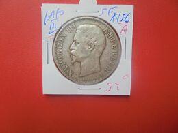 """NAPOLEON III. 5 FRANCS 1856 """"A"""" ARGENT (A.6) - J. 5 Francs"""