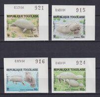 TOGO 1984, Mi# 1763-1766, Imperf, Animals, WWF, MNH - Colecciones & Series