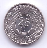 NETHERLAND ANTILLAS 2016: 25 Cent, KM 35 - Antillas Nerlandesas