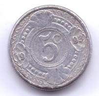 NETHERLAND ANTILLAS 1993: 5 Cent, KM 33 - Antillas Nerlandesas