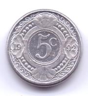NETHERLAND ANTILLAS 1992: 5 Cent, KM 33 - Antillas Nerlandesas