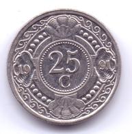 NETHERLAND ANTILLAS 1991: 25 Cent, KM 35 - Antillas Nerlandesas