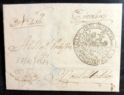 1813 SENIGALLIA PER MONTALBODDO - ...-1850 Préphilatélie