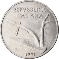 Monnaie, Italie, 10 Lire, 1991, Rome, TTB, Aluminium, KM:93 - 10 Lire