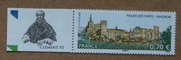 """T3-D1 : Le Palais Des Papes à Avignon -Vaucluse - Avec Vignette """"Clément VI"""" (Pierre Roger ) - Unused Stamps"""