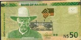 NAMIBIA P13b 50 DOLLARS 1016  FINE FOLDS NO P.h. ! - Namibië