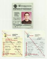 Yugoslavia - Subotica City Bus Ticket 1997 And Membership Card - Europa