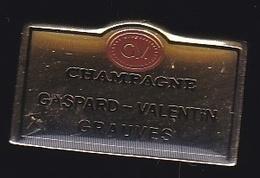 66684- Pin's .Champagne Gaspard-valentin Bertrand Grauves - Getränke