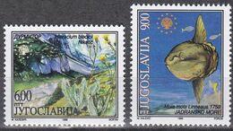 Tr_ Jugoslawien 1998 - Mi.Nr. 2860 - 2861 - Postfrisch MNH - Tiere Animals Fische Fishes - Fische