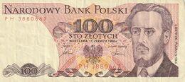 P 451) Polen 1986: Banknote 100 Zlotych: Ludwik Warynski, Zeitschrift PROLETARYAT - Poland