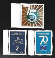 France 2020 - Yv N° 177 - 178 - 179 ** - Droit De L'Homme & 75ème Anniversaire De L'UNESCO  (timbres De Service) - Nuevos