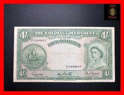 BAHAMAS  4 Shillings 1953  P. 13    F \ VF   [MM-Money] - Bahamas