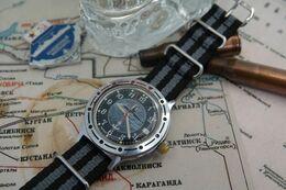 Watches : VOSTOK AUTOMATIC KOMANDIRSKIE U-BOOT 1980'S- Original - Running - Excelent Condition -u Boot Military USSR - Watches: Modern