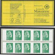 VARIETE ERREUR TEXTE  Carnet Sagem Daté  07.11.19 Marianne L'engagée - Postzegelboekjes