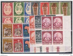 VATICANO:  1969  ANNATA  COMPLETA  -  12  VAL. BL. 4  N. -  SASS. 467/78 - Full Years