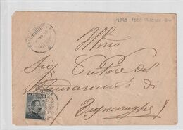 1909. Annullo Ambulante MACOMER - BOSA, Su Lettera Affrancata - Marcophilie