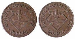 05267 GETTONE TOKEN JETON CANADA TRASPORTI TRANSIT BUS AUTOBUS FOURNIER LTEE QUEBEC ATWOOD PQ745Q - Tokens & Medals
