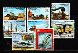 Paraguay 1976 US Bicentennial, Trains, Space Set Of 8 MNH - Us Independence