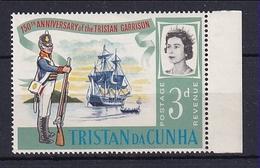Tristan Da Cunha: 1966   150th Anniv Of Tristan Garrison  SG93w  3d  [Wmk Crown To Right Of CA]    MNH - Tristan Da Cunha