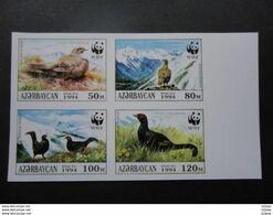 Azerbaijan 1994  PROOF Imperforated WWF Birds VF - Other
