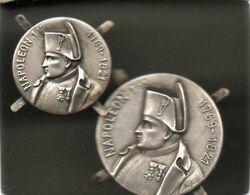 2 Boutons ( ? ) - Avec Encoches - Napoléon 1er - Scan Du Verso - - Buttons