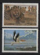 Zambie - N°386 + 387 - Faune - Lion Pelican - Cote 9€ - * Neufs Avec Trace De Charniere - Zambie (1965-...)