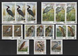 Zambie - N°388 à 398a - Faune - Oiseaux - Cote 22.50€ - * Neufs Avec Trace De Charniere - Zambie (1965-...)