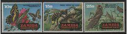Zambie - N°86 à 88 - Faune - Insectes - Cote 7.50€ - * Neufs Avec Trace De Charniere - Zambie (1965-...)