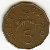 Tanzanie Tanzania 5 Senti 1972 KM 1 - Tanzanie