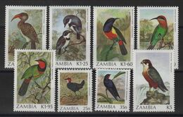 Zambie - N°376 à 383 - Faune - Oiseaux - Cote 22€ - * Neufs Avec Trace De Charniere - Zambie (1965-...)
