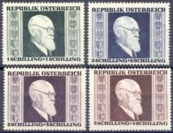 Austria Autriche Österreich 1946: Karl Renner (1870-1950) Michel-# 772-775 * Mit Falz MLH (Michel 24.00 Euro Für **) - 1945-60 Unused Stamps