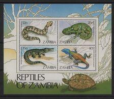 Zambie - BF N°13 - Faune - Reptiles - Cote 5€ - ** Neufs Sans Charniere - Zambie (1965-...)