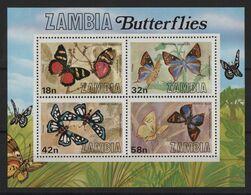 Zambie - BF N°10 - Faune - Papillons - Cote 6€ - ** Neufs Sans Charniere - Zambie (1965-...)