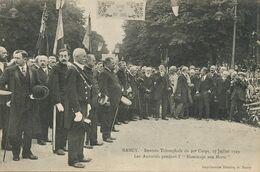 Nancy Rentrée Du 20 Eme Corps 27.7/1919 Hommage Aux Morts . Photographe à Droite . - Manifestazioni