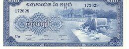 Cambodia P.13b 100 Riels 1972   Unc - Cambogia