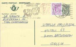 Belgique Carte Postale Entier Postal Oblitéré, Thème Bière, Beer, Bier. Flamme Fête De La Bière. Chopes - Birre