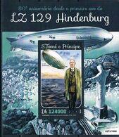Bloc Sheet Transports Zeppelin Hindenburg  Neuf MNH **   S Tome & Principe 2016 - Zeppelins