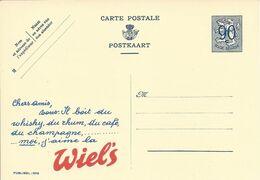 Belgique Carte Postale Entier Postal Publibel 1018 Neuf, Bière, Beer, Bier. Bière Wiel's - Birre