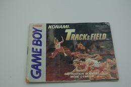 NINTENDO GAMEBOY  : KONAMI TRACK & FIELD BOOKLET - Consoles
