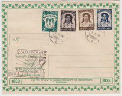 SURINAME - Enveloppe Premier Jour Anniversaire Emancipation First Day Cover FDC Paramaribo 1938 - Surinam ... - 1975