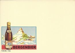 Belgique Carte Postale Publibel 1936 Neuf Entier Postal Sans Vignette, Bière, Beer, Bier. Bergenbier - Beers