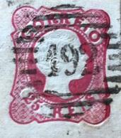 Roi Pedro V 1858, 25 Reis, Rose, Yt: PT 12, Oblitéré - 1855-1858 : D.Pedro V