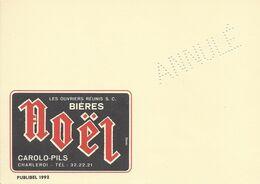Belgique Carte Postale Publibel 1992 Neuf Entier Postal ANNULE Sans Vignette, Bière, Beer, Bier. Bière Noël Carolo Pils - Beers