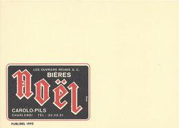 Belgique Carte Postale Publibel 1992 Neuf Entier Postal Sans Vignette, Bière, Beer, Bier. Bière Noël Carolo Pils - Beers