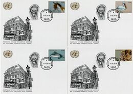 United Nations - 2020 - Vienna - Endangered Species - UN Post At Sberatel Fair - Stamped Postcards Set With Postmark - Cartas