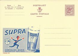 Belgique Carte Postale Publibel 1859 Neuf Entier Postal, Bière, Beer, Bier. Bière Supra Verre - Birre
