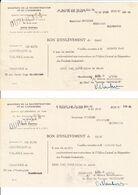 Militaria Aprés Guerre 39/45 Ministère De La Reconstruction Et De L'urbanisme - 2x BON D'ENLEVEMENT - NORD 59 - Historische Dokumente