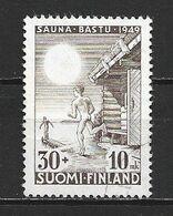 1949 FINLAND ERROR MISSING RED CROSS 30+10 M. MICHEL: 364 USED - Abarten Und Kuriositäten