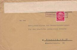 Landpoststempel - Michalkowitz Oberschlesien Michałkowice - An Bevollmächtigten Des Generalgouverneurs Berlin Hindenburg - Occupation 1938-45